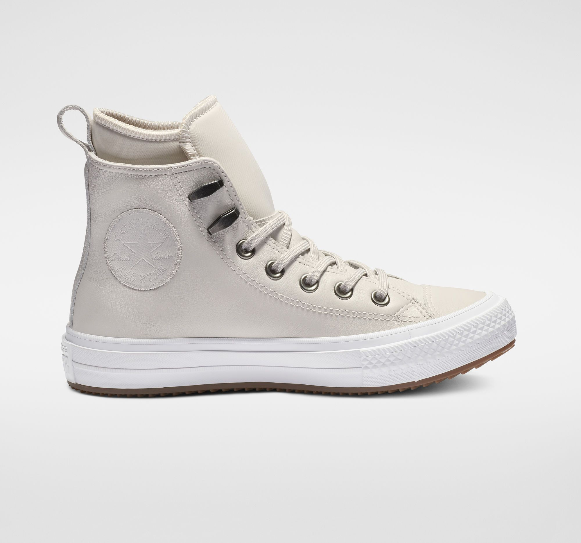 Chuck Taylor All Star Waterproof Leather Pale Putty High Top