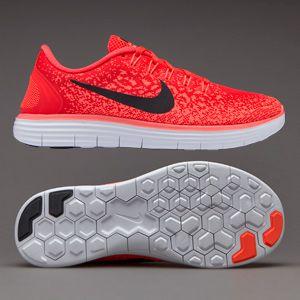 Nike Womens Free RN Distance - Bright Crimson/Black-Hyper Orange-White