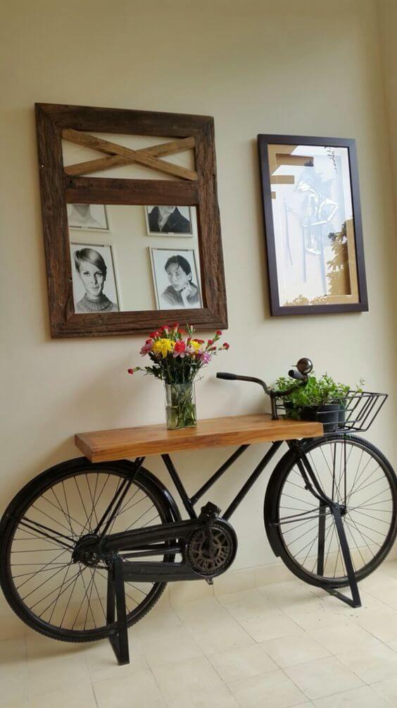 Bicicletas en desuso para la decoración del hogar