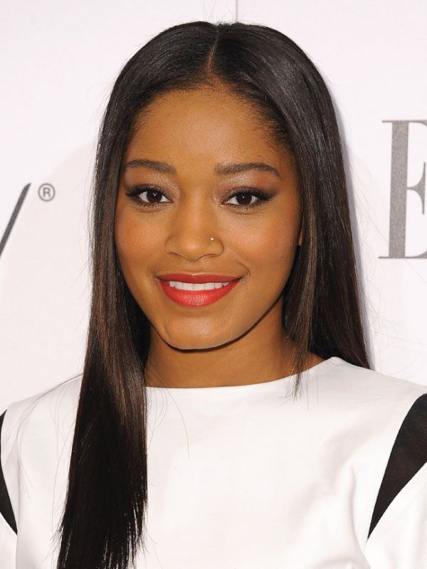 Keke Palmer With A Sleek Middle Part Middle Part