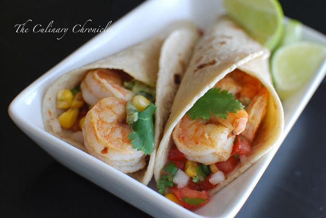 Grilled Shrimp Tacos-- I usually don't like Mexican restaurants around here cause they slather everything with cheese and grease, but I can definitely do this!