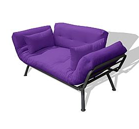 flex futon great for teens room! | Kia\'s room | Purple sofa ...
