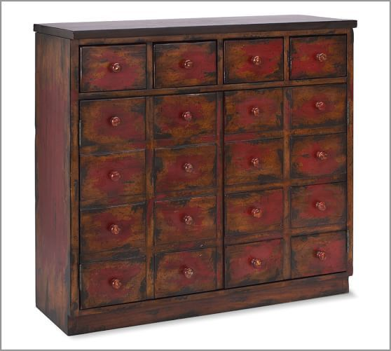 Andover Cabinet-Pottery Barn Ideal warm red color for left corner ...