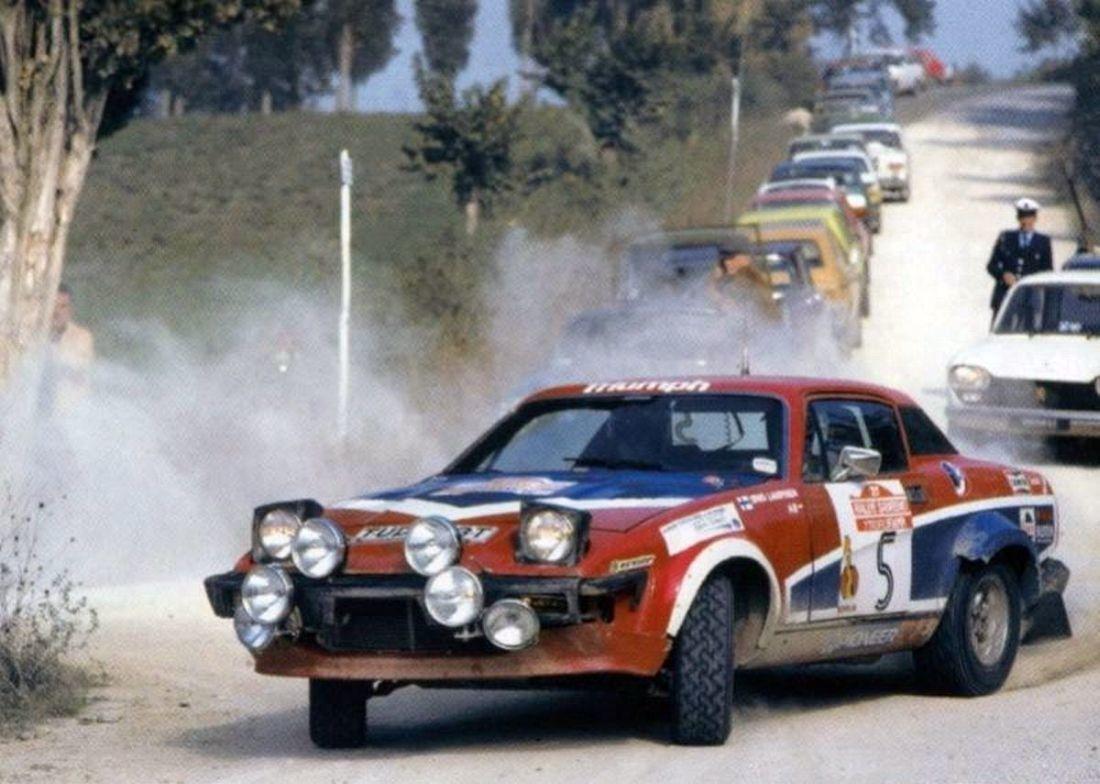 San Remo 1979 - Lampinen Simo - Gallagher Fred icon Triumph TR7 V8 ...