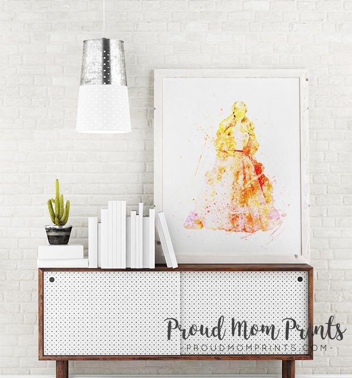 pink nursery decor, barbie printable Art Print, barbie Peaches and ...