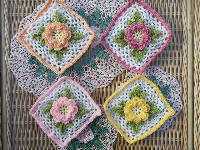 Irish Rose Based On A Free Pattern By Priscilla Hewitt So Pretty
