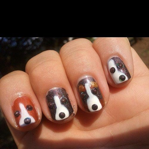 Dog Unique Nail Design. See more at http://www.naildesignsforyou. - Dog Unique Nail Design. See More At Http://www.naildesignsforyou.com