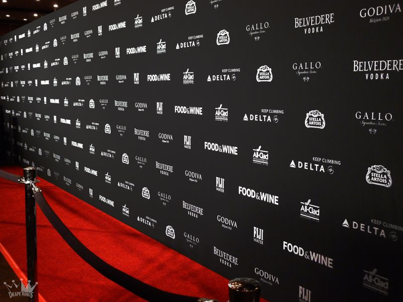 Step Repeat Chrome Stanchions Black Ropes Event Backdrop Red Carpet Theme Backdrop Design