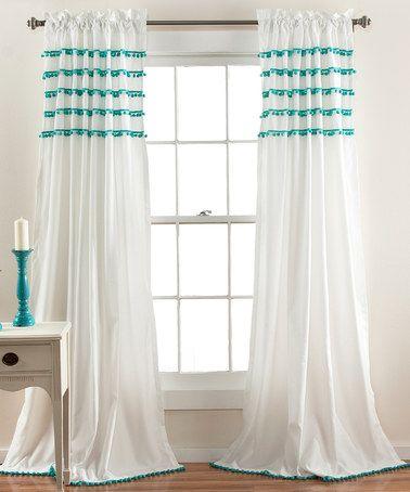 Look at this #zulilyfind! Aqua Quinn Curtain Panel #zulilyfinds