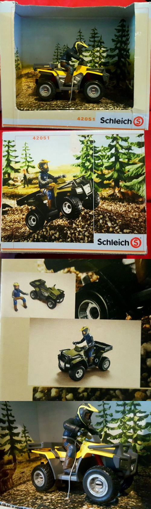 Animals and Nature 31744: Schleich Quad Bike With Driver #42051 Discontinued Hand Painted Extreme Detail -> BUY IT NOW ONLY: $49.97 on eBay!