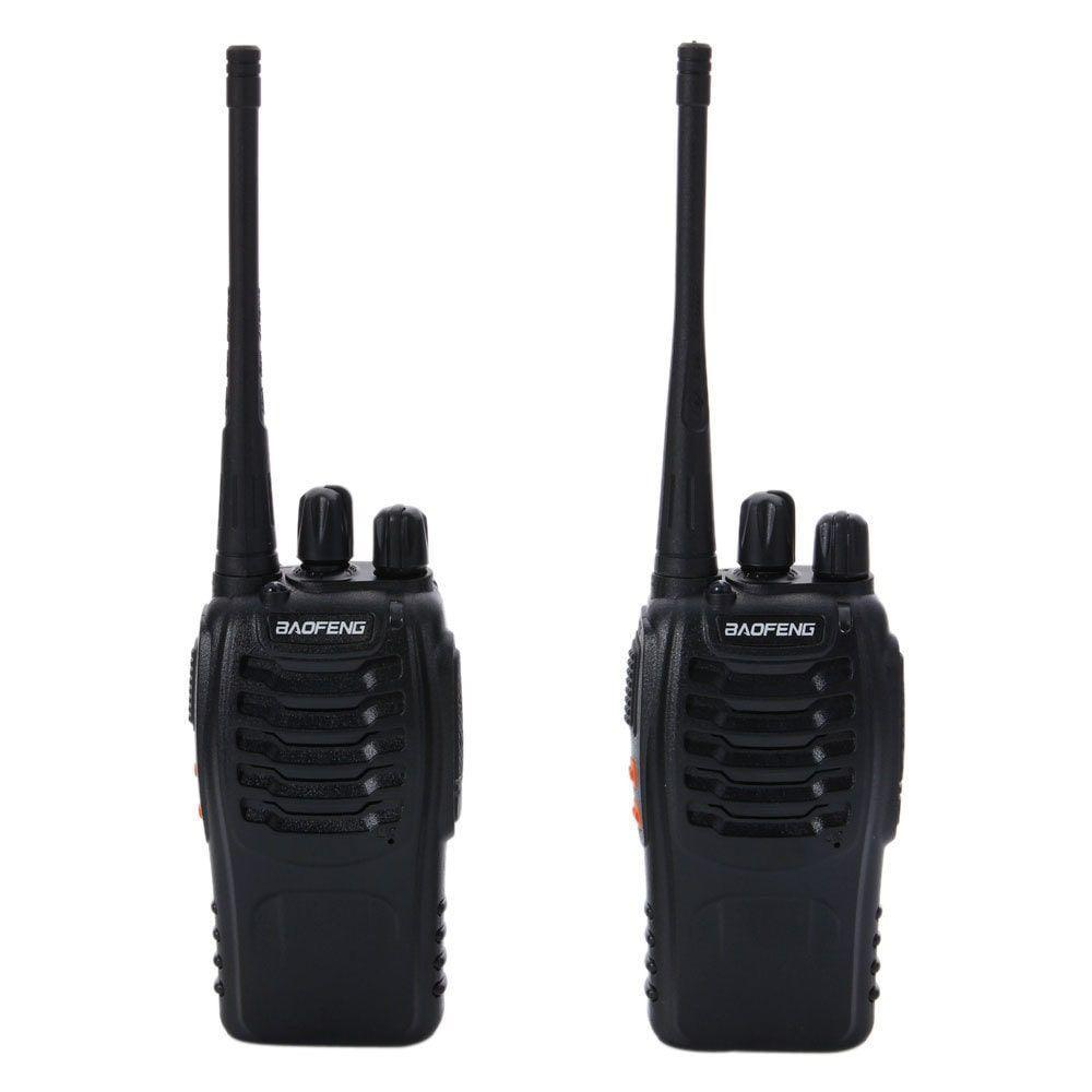 2pcs//Pair BF-888S 5W 400-470MHz Handheld Walkie Talkie Black