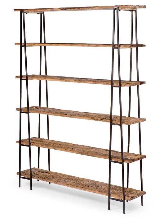 Regina Andrew | Industry Shelving Unit reclaimed wood and iron  sc 1 st  Pinterest & Regina Andrew | Industry Shelving Unit reclaimed wood and iron ...