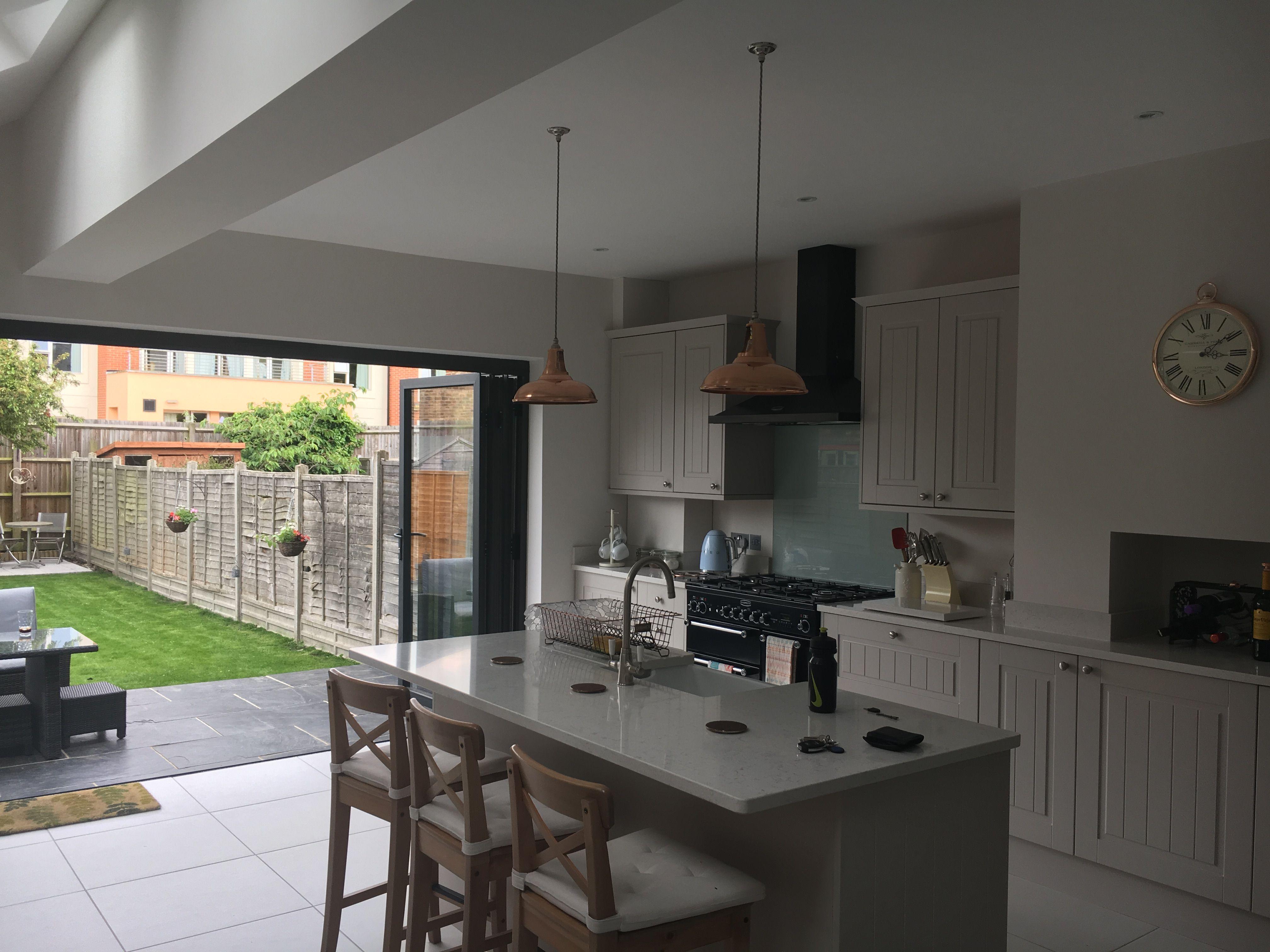 Victorian Open Plan Kitchen With Bifold Doors Kitchen Inspiration