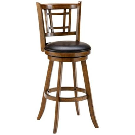 Groovy Hillsdale Fairfox 24 1 2 Brown Oak Swivel Counter Stool Pabps2019 Chair Design Images Pabps2019Com