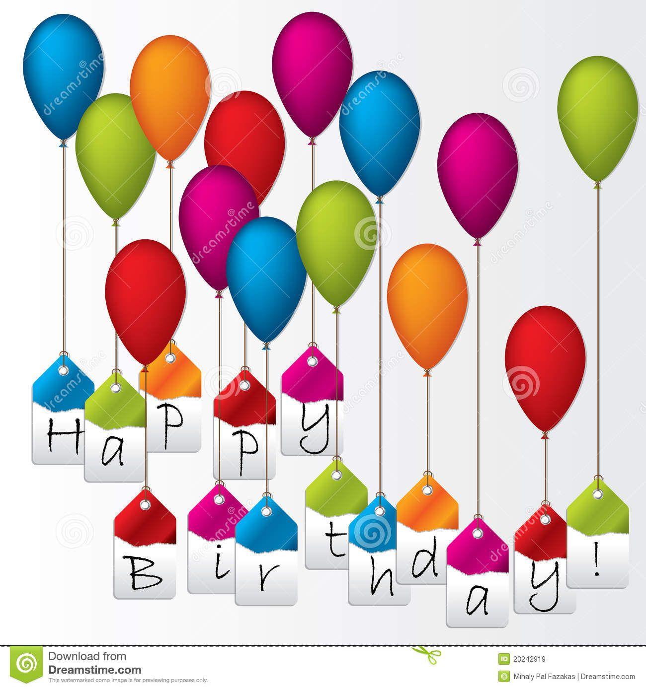 Escrituras De La Etiqueta Del Feliz Cumpleaños Que Cuelgan En Los ...