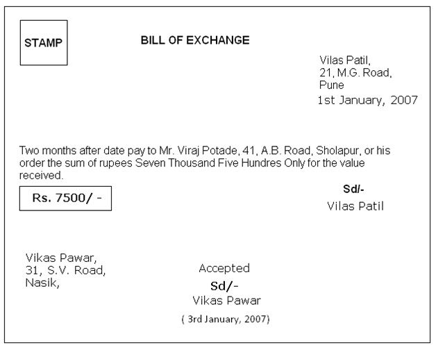 Bill Of Exchange Format In Word   Google Search  Bill Of Exchange Sample