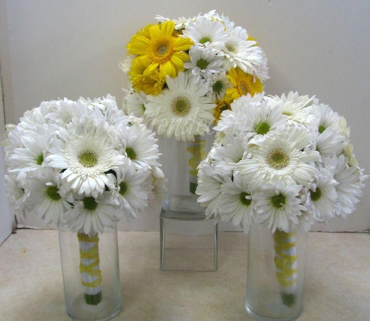 Secret Garden Decatur Bridal Flowers Gerbera Daisy Wedding Bridesmaid Bouquet White