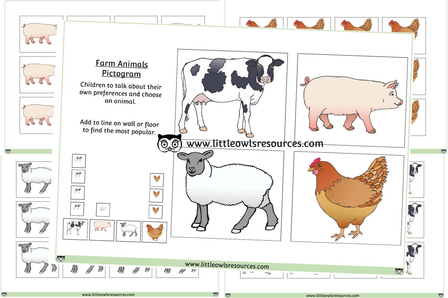 Free Farm Animal Pictogram Printable Early Years Ey Eyfs