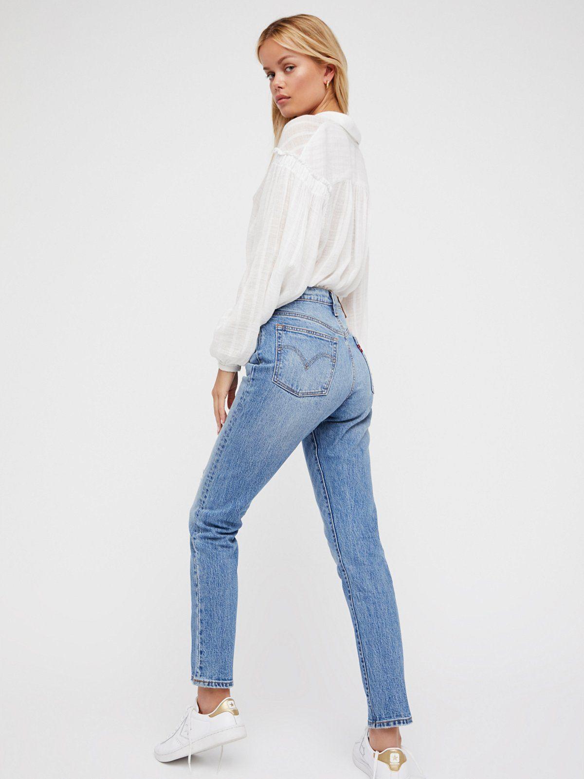 LEVIS 501 DAMEN Slim Fit Jeans Hose SKINNY used look