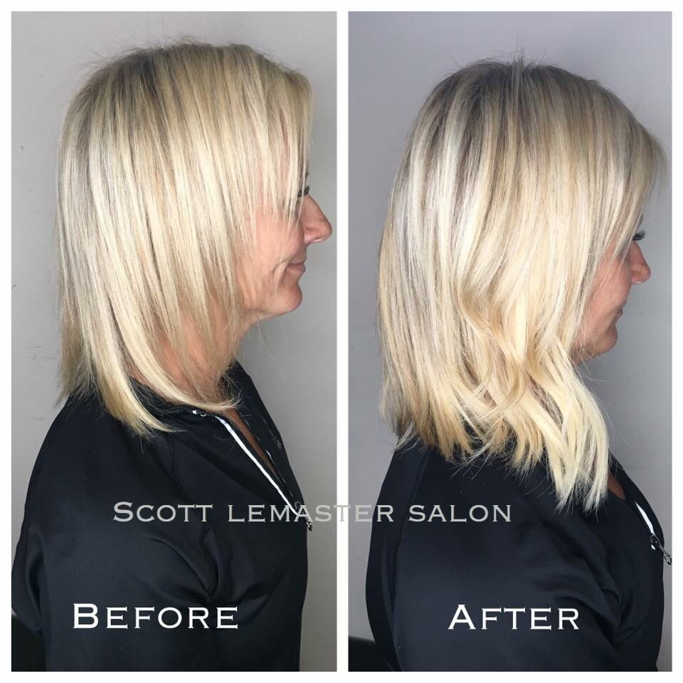 YES! It's amazing what a #oneboxtransformation with Vomor extensions can do! Color and extentions done by Taylor at Scott Lemaster Salon and spa.