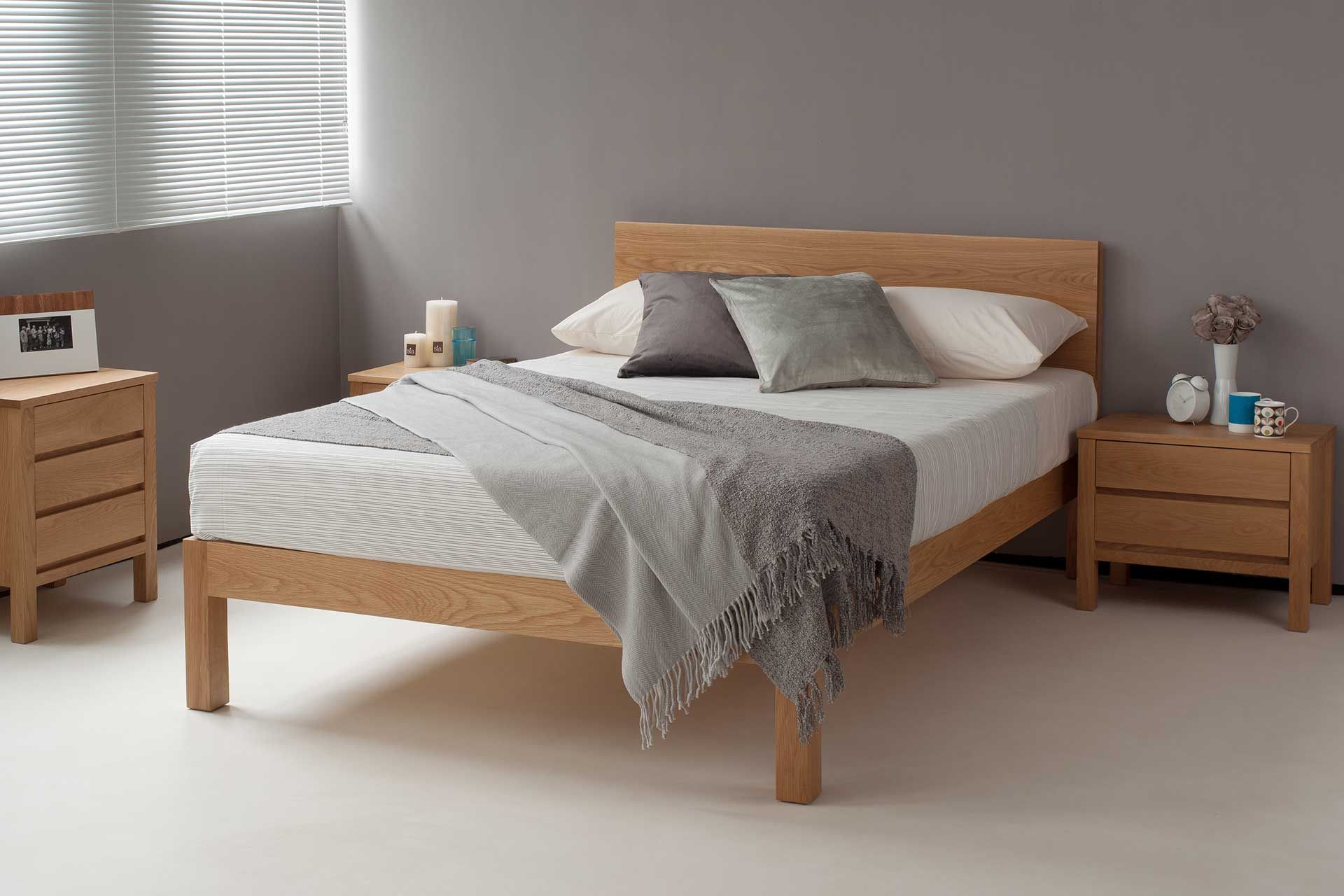 The Hand Built Tibet Is A Stylish, Modern, Solid Wood Bed
