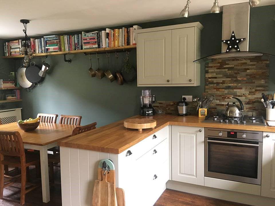 Best Cheryl S Beautiful Green Smoke Kitchen Is Given A Lift Of 400 x 300