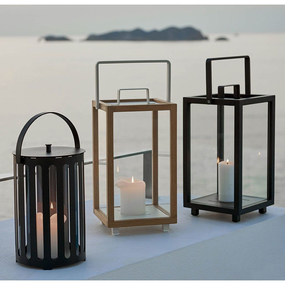 Cane Line Lighthouse Lantern Small Set Of 2 In 2020 Lanterns Lantern Set Outdoor Lanterns