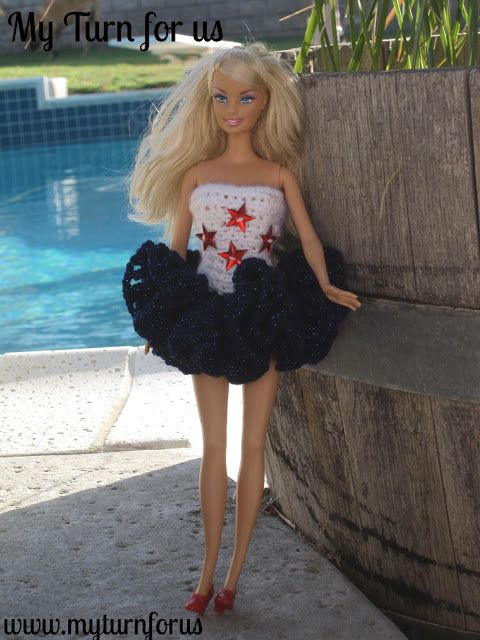 My Turn for us: Red, White and Blue Barbie
