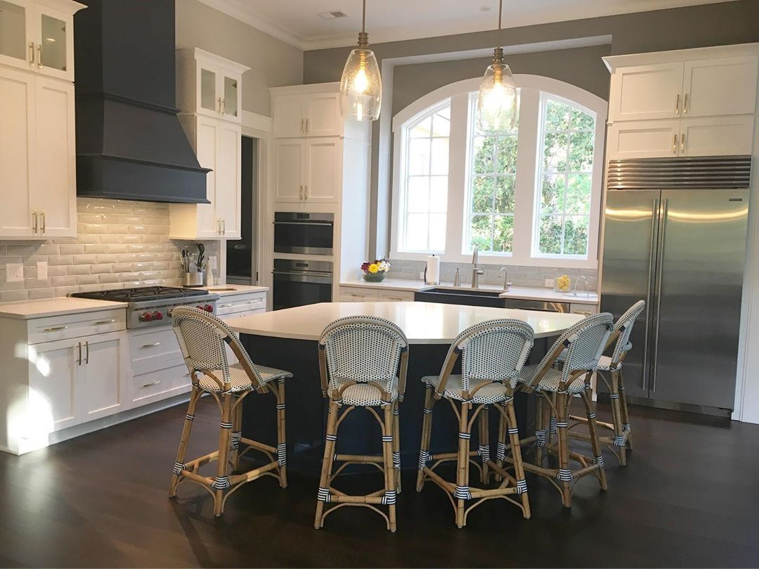 Center Point Cabinets On Instagram These Riviera Counter Stools By Serena Lily Are The Perfect Finis Kitchen Inspiration Design Counter Stools New Kitchen
