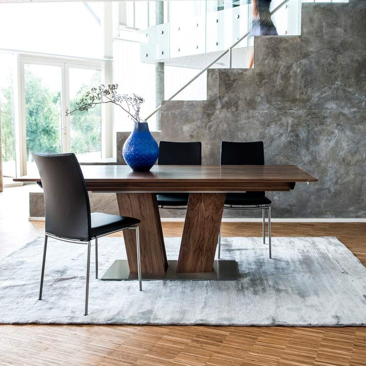skovby walnut extending dining table #39 (lifestyle)   modern