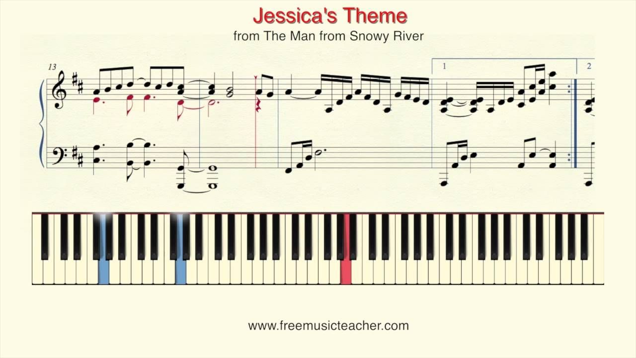 how to play jessica on piano