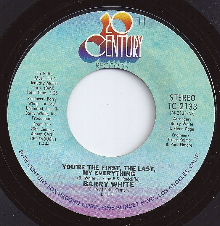 You Re My First The Last My Everything Barry White 2 On