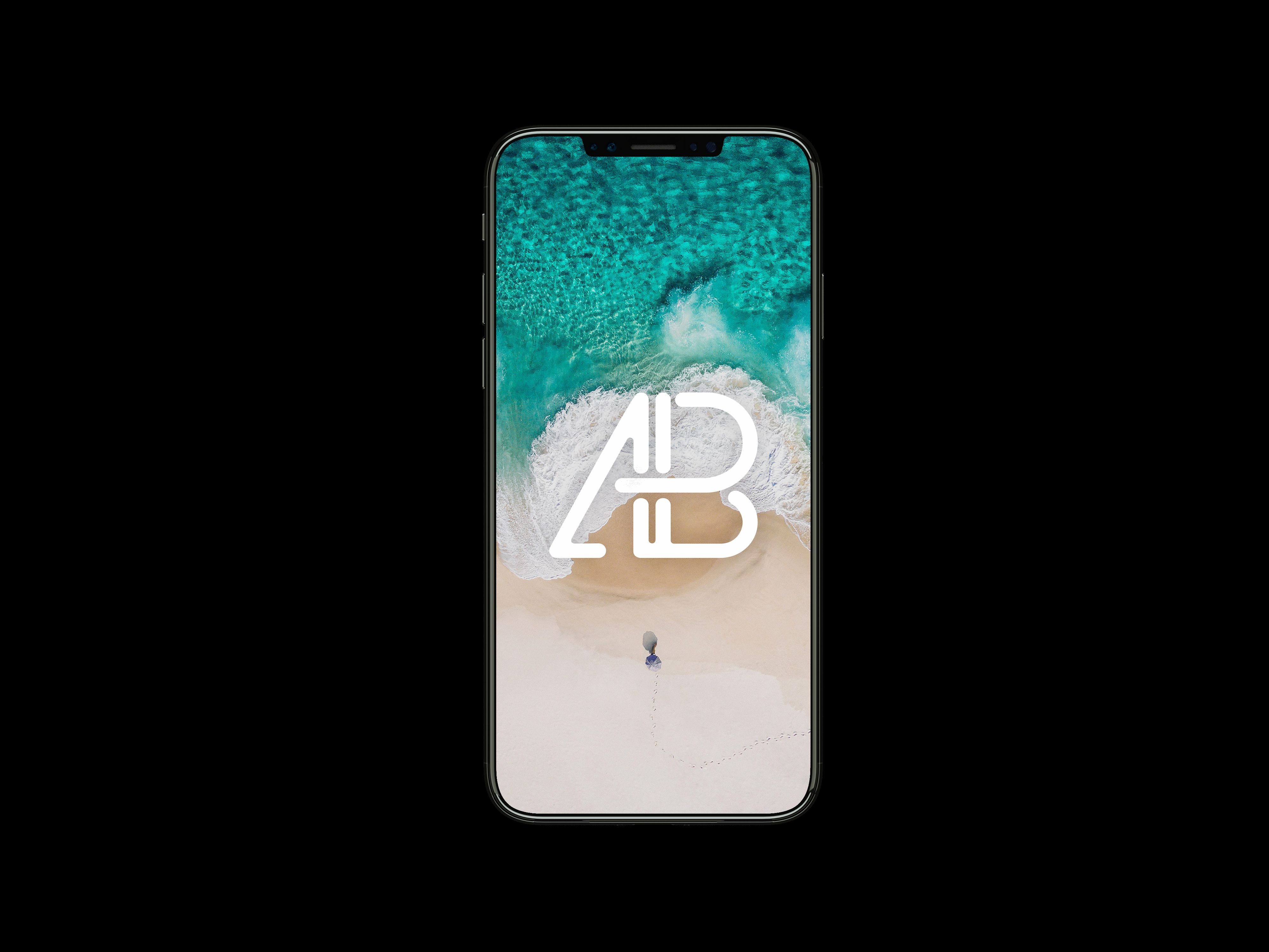 Front View iPhone X Mockup Vol.2 Iphone psd, Free iphone