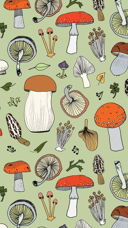 Green Mushroom Surface Design
