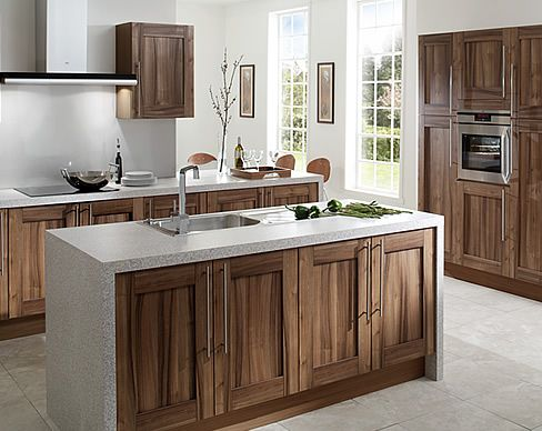 Walnut Kitchen Cabinets Shaker