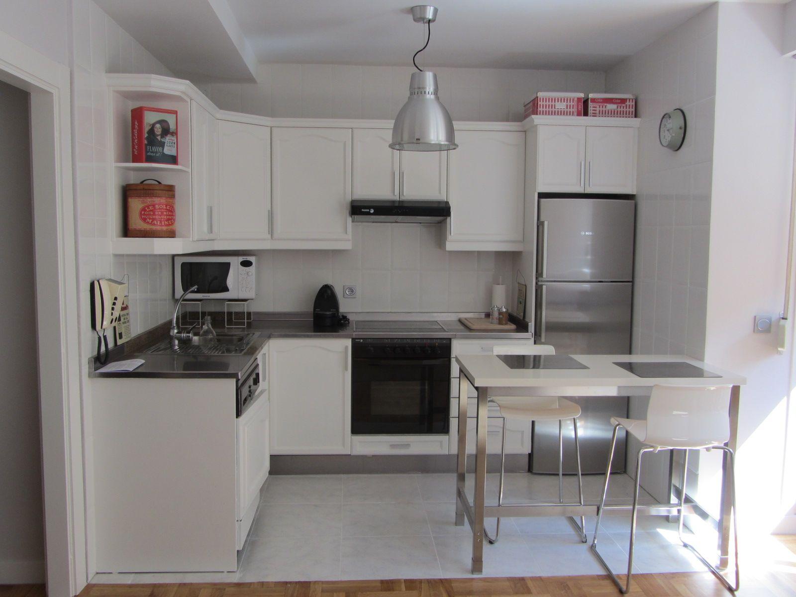 Antes y despues cocinas pintadas chailk paint cerca amb google transformar cocina - Leroy merlin encimeras cocina ...