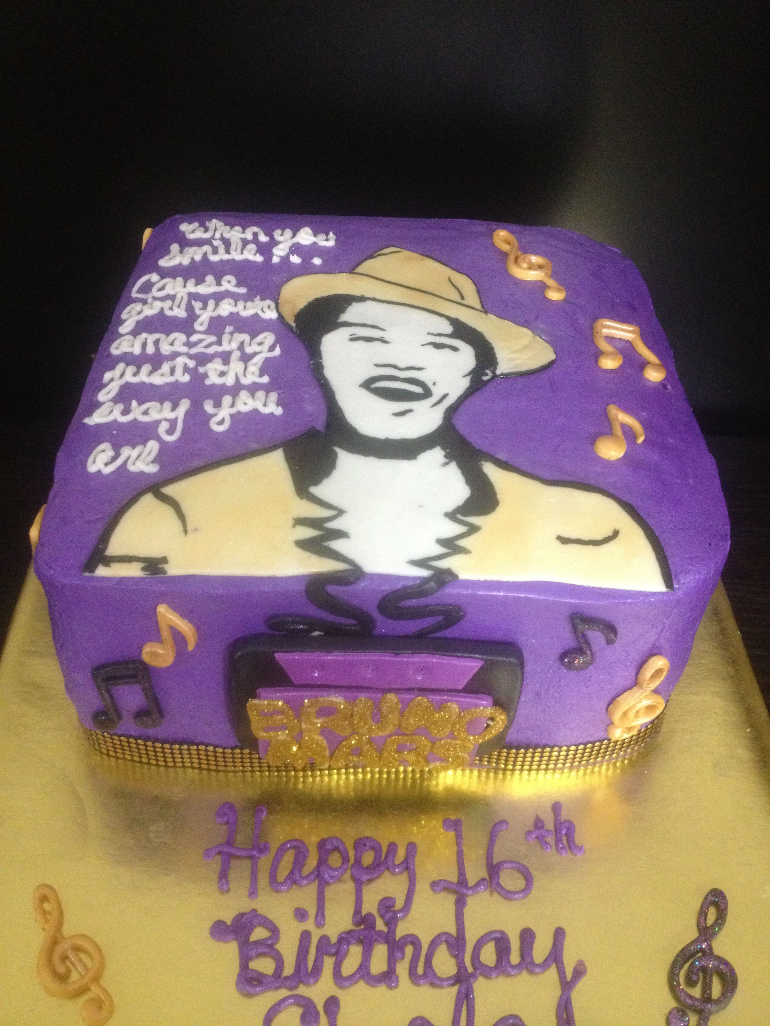 Bruno mars cake | My Creations | Bruno mars birthday, Bruno mars ...
