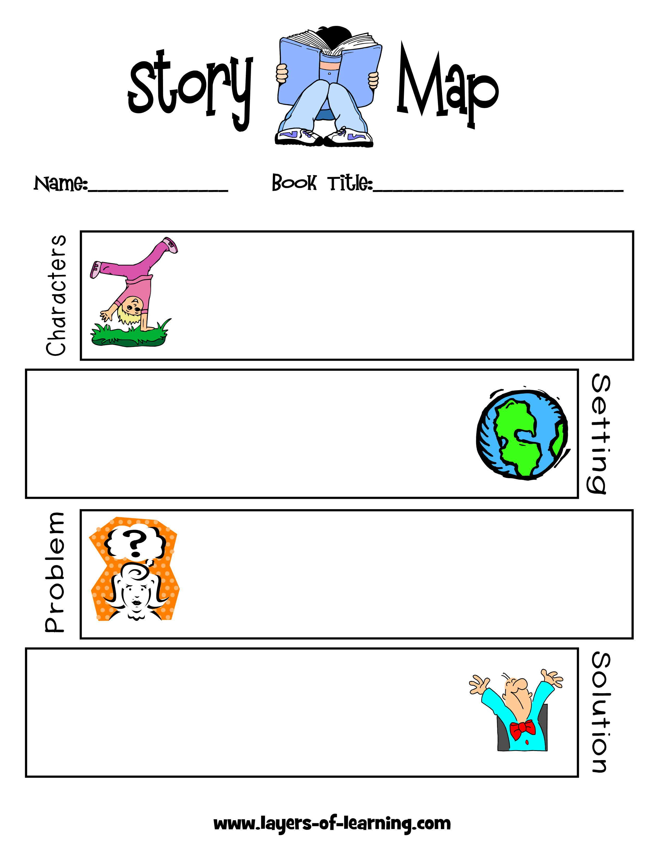 Layers Of Learning 23 86 The World Is So Full Of A Number Of Things Story Map Characters Setting Problem Solution First Grade Reading [ 3300 x 2550 Pixel ]