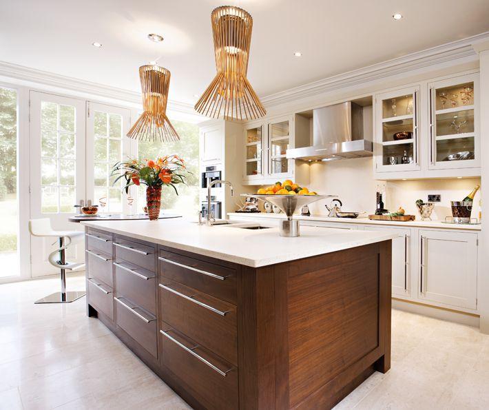 Kitchen Cabinets Island Shelves Cabinetry White Walnut: Harrington Walnut Kitchen