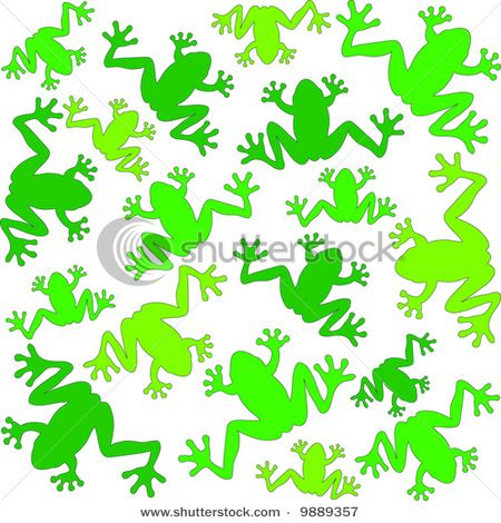 This frog background would be great for party invitations or decorations.