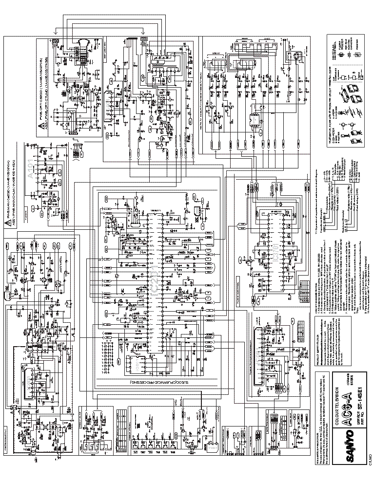 Tv Schematic Circuit Diagram Free Tv Circuit Diagram Sanyo Tv