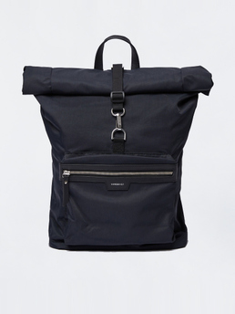 Sandqvist Siv Black W Black Leather Black Leather Leather Black Backpack