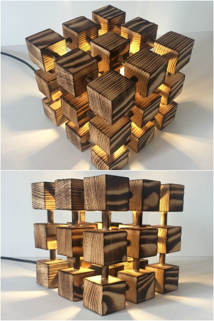 Lamp Cube Table MolecularRubik's Rubik Wooden Lamps This jqzVGLUpSM