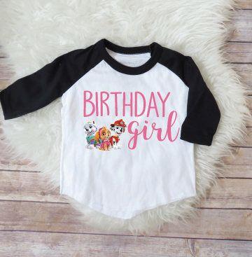 Paw Patrol Skye Birthday Girl Shirt