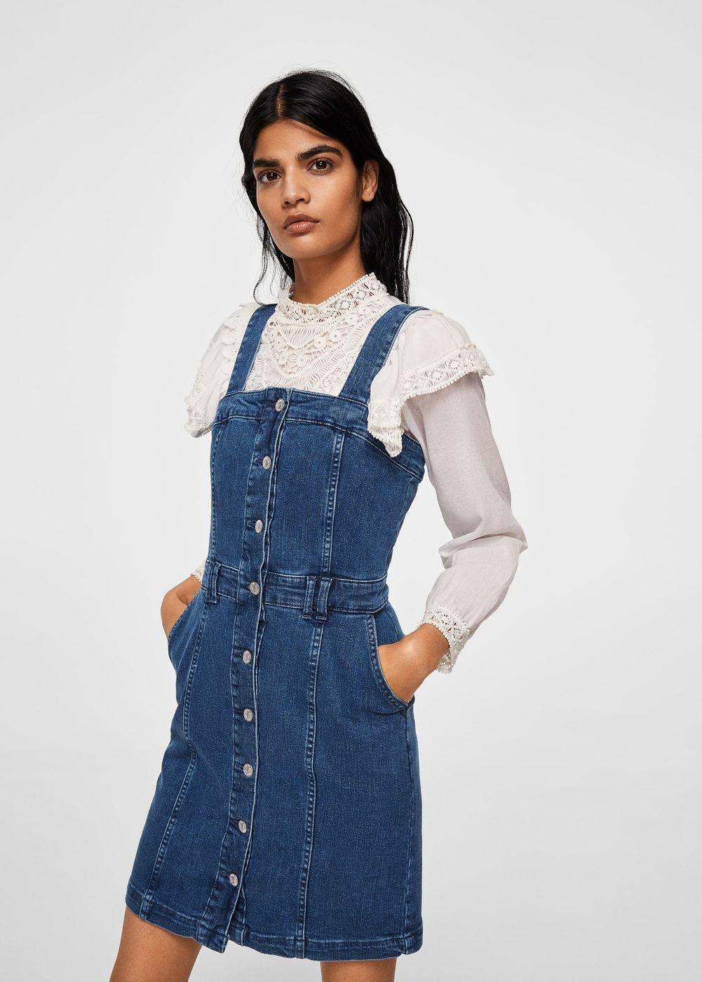 Pichi denim bolsillos - Vestidos de Mujer  5bc8d3263695