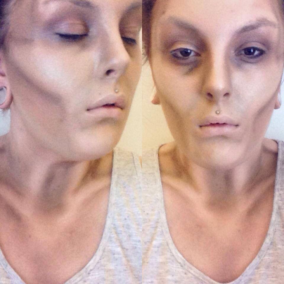 Emaciation sfx makeup  Halloween costumes  Pinterest