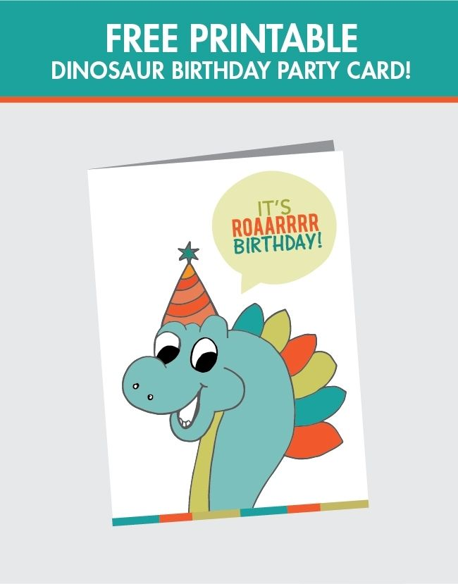 Free Printable Dinosaur Birthday Card – Printable Birthday Card