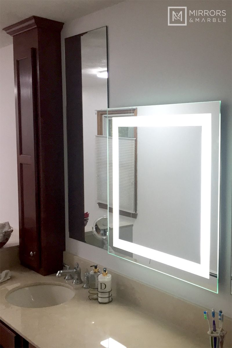 Front Lighted Led Bathroom Vanity Mirror 32 Wide X 32 Tall