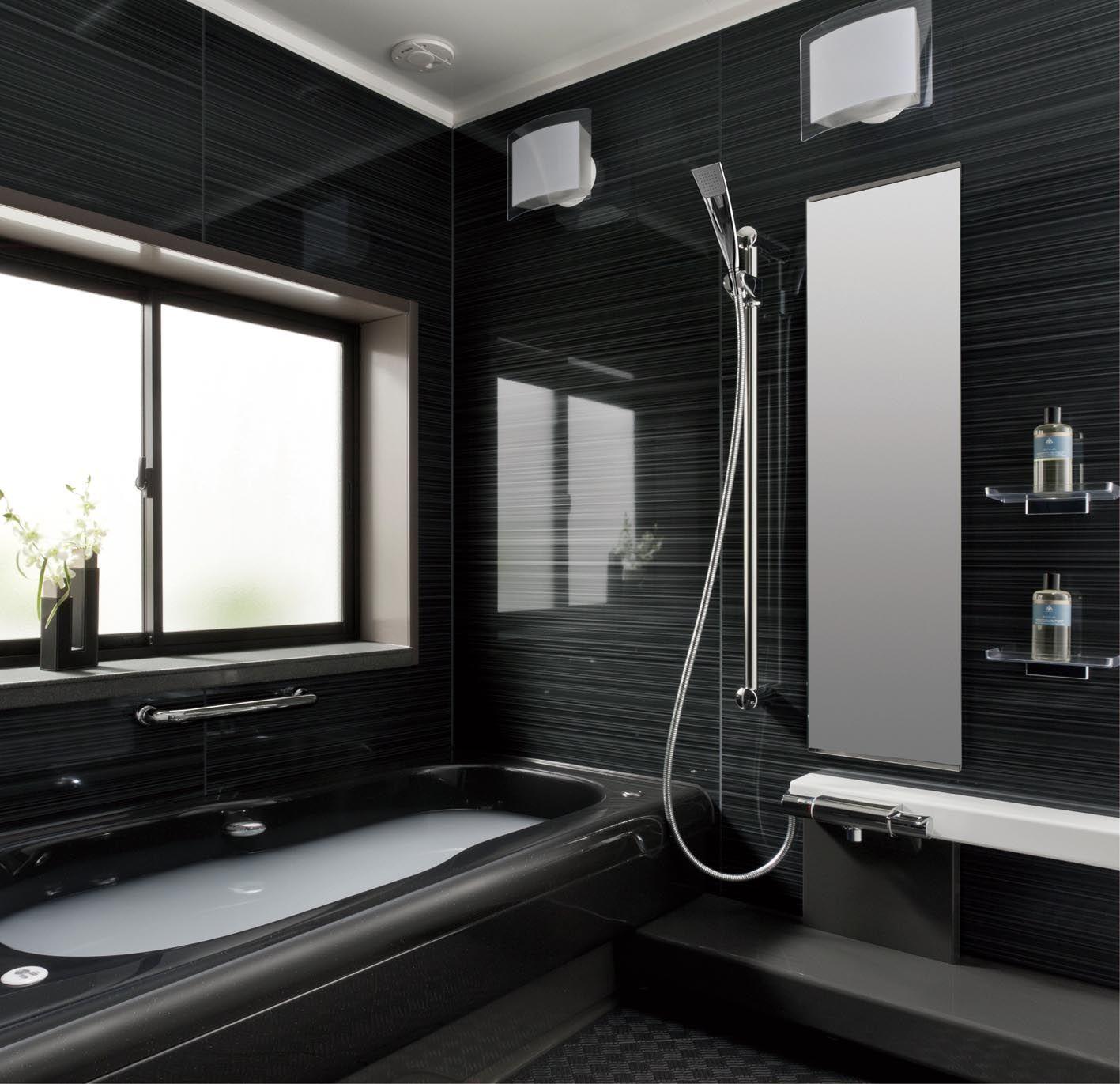トクラスバスルーム ストーリー 1坪 ブラック モダンバスルーム バスルームのインテリアデザイン ユニットバス