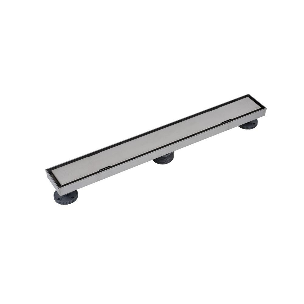 Oatey Designline 24 In Stainless Steel Linear Shower Drain Tile